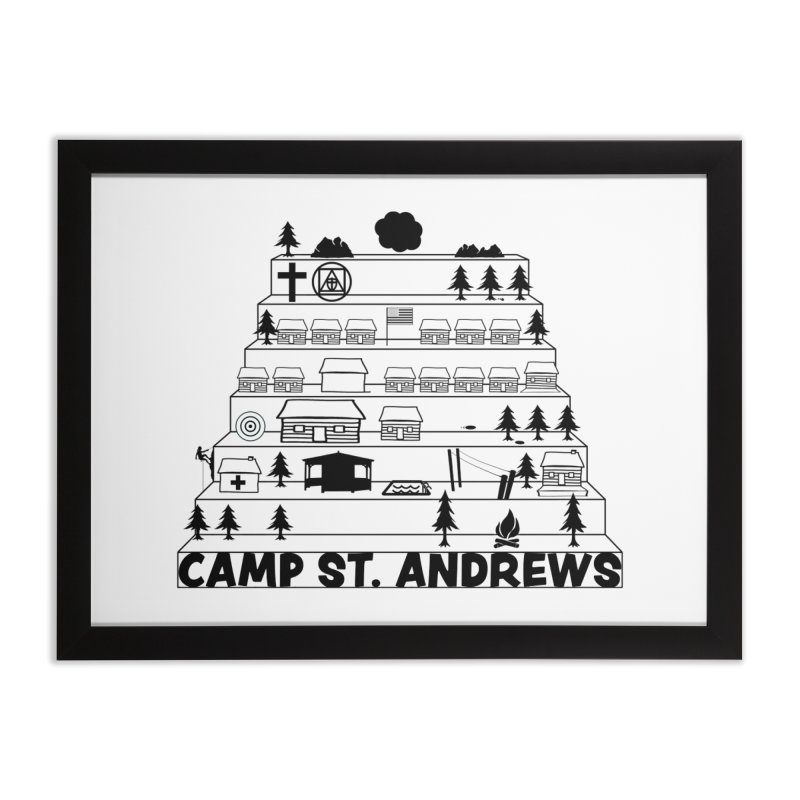 Stairs (black) Home Framed Fine Art Print by Camp St. Andrews