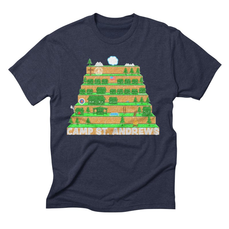 Stairs (color) Men's Triblend T-Shirt by Camp St. Andrews