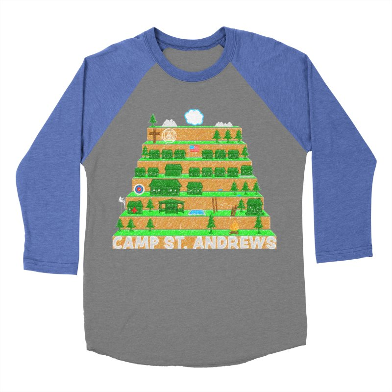 Stairs (color) Men's Baseball Triblend Longsleeve T-Shirt by Camp St. Andrews