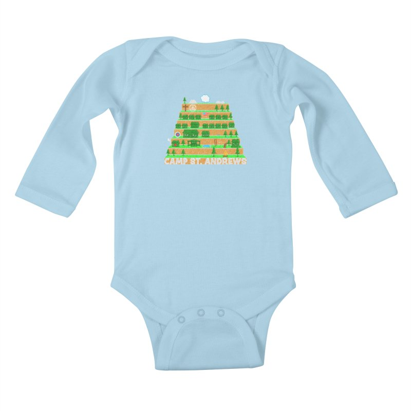 Stairs (color) Kids Baby Longsleeve Bodysuit by Camp St. Andrews