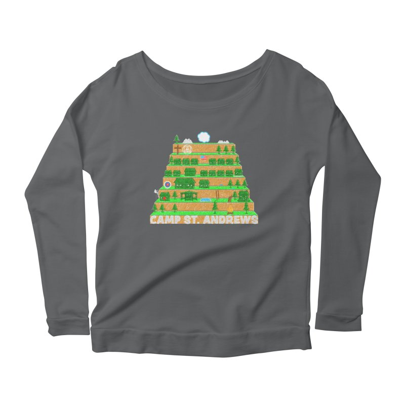 Stairs (color) Women's Longsleeve Scoopneck  by Camp St. Andrews