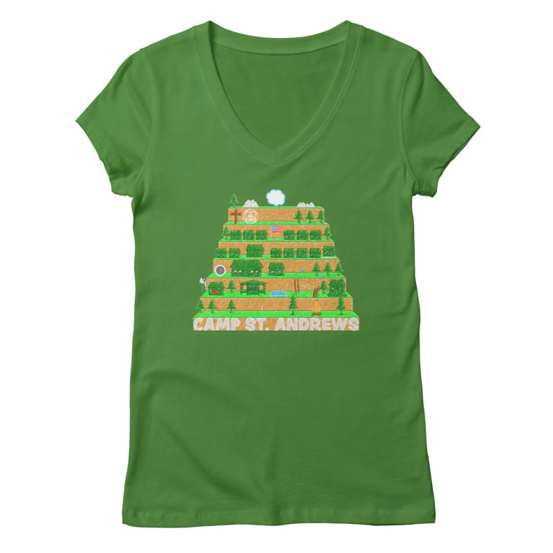 Stairs (color) Women's Regular V-Neck by Camp St. Andrews