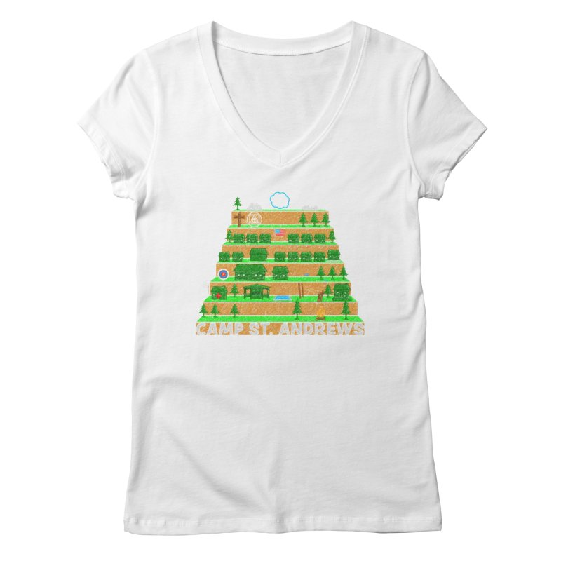 Stairs (color) Women's V-Neck by Camp St. Andrews