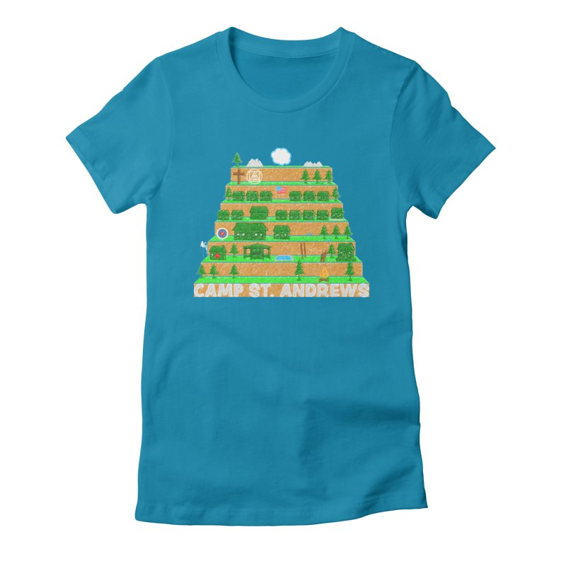 Stairs (color) Women's Fitted T-Shirt by Camp St. Andrews