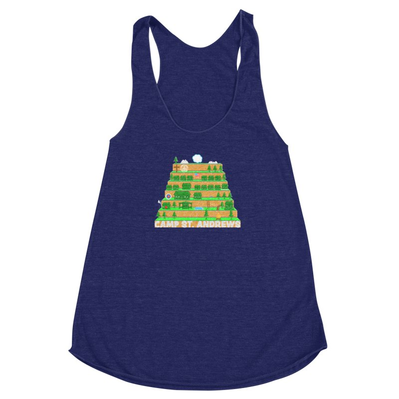 Stairs (color) Women's Racerback Triblend Tank by Camp St. Andrews