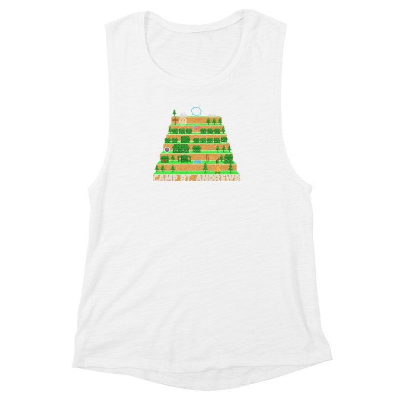 Stairs (color) Women's Muscle Tank by Camp St. Andrews