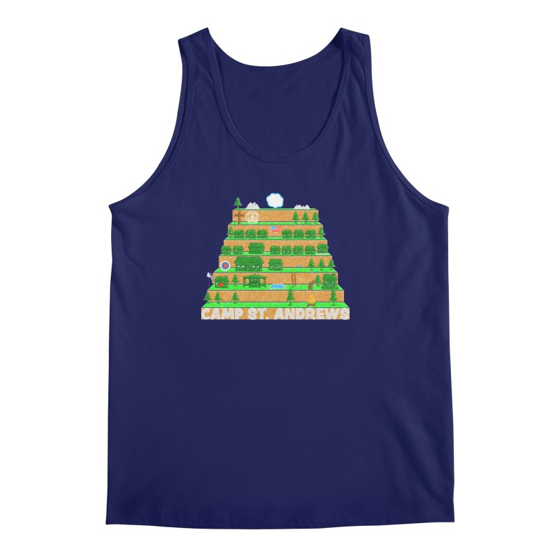 Stairs (color) Men's Regular Tank by Camp St. Andrews