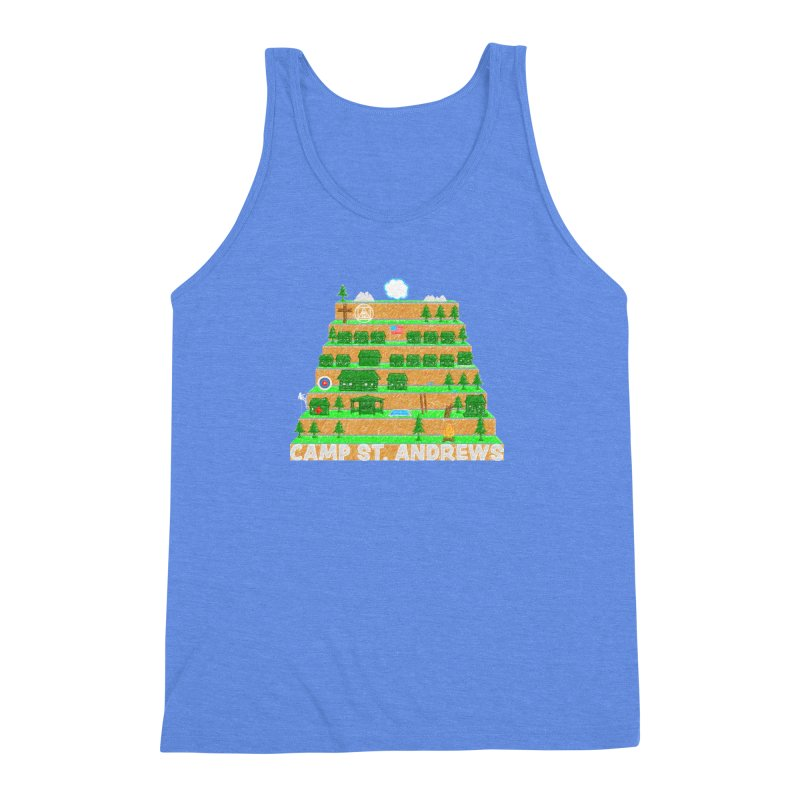 Stairs (color) Men's Triblend Tank by Camp St. Andrews