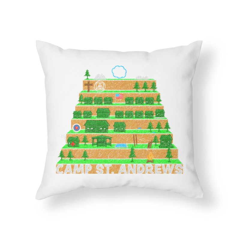 Stairs (color) Home Throw Pillow by Camp St. Andrews