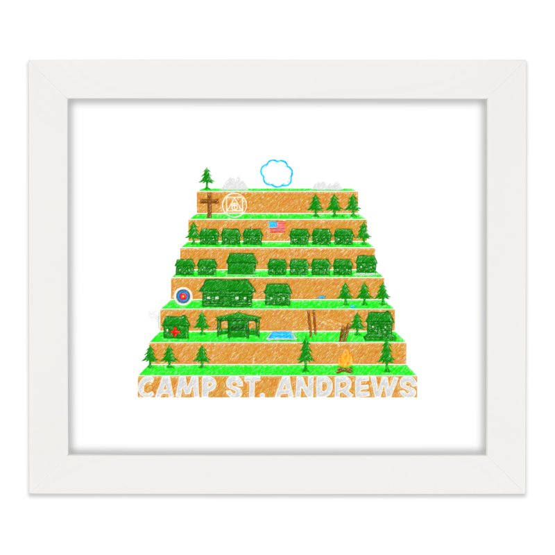 Stairs (color) Home Framed Fine Art Print by Camp St. Andrews
