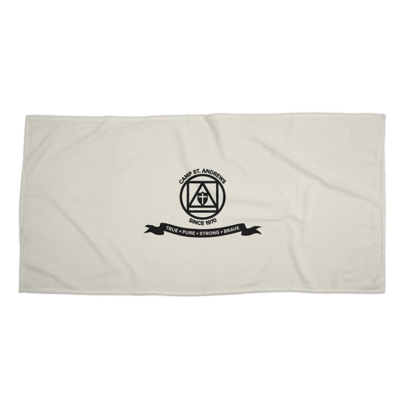 CSA Emblem (black) Accessories Beach Towel by Camp St. Andrews
