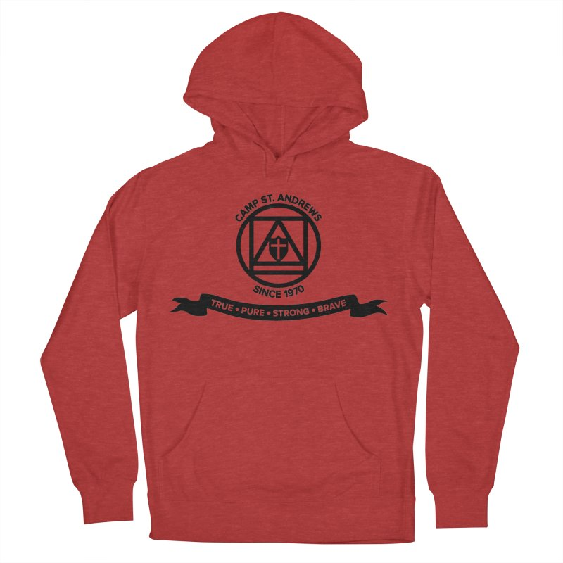 CSA Emblem (black) Men's French Terry Pullover Hoody by Camp St. Andrews
