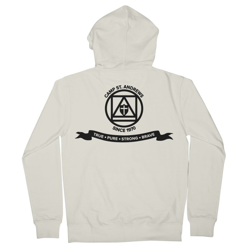 CSA Emblem (black) Women's French Terry Zip-Up Hoody by Camp St. Andrews