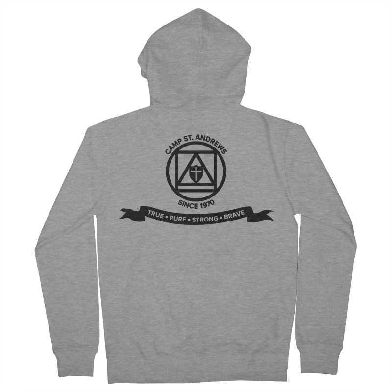 CSA Emblem (black) Men's Zip-Up Hoody by Camp St. Andrews