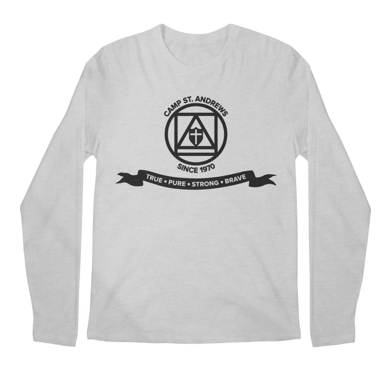 CSA Emblem (black) Men's Longsleeve T-Shirt by Camp St. Andrews