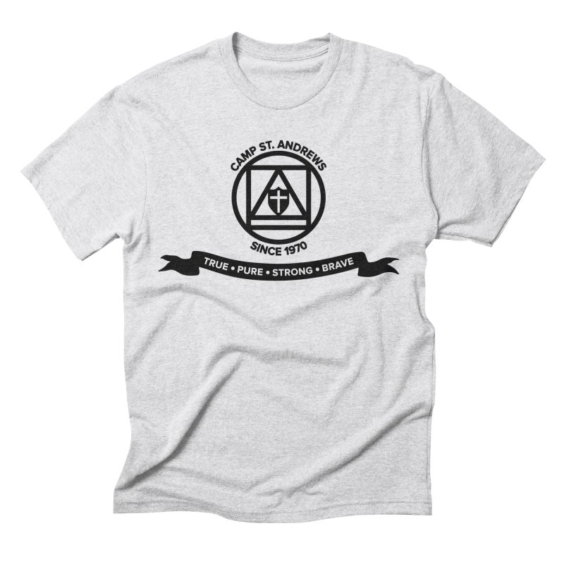 CSA Emblem (black) Men's Triblend T-Shirt by Camp St. Andrews