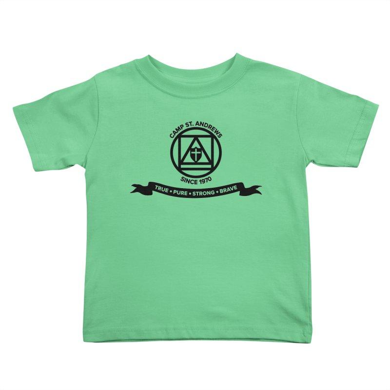 CSA Emblem (black) Kids Toddler T-Shirt by Camp St. Andrews