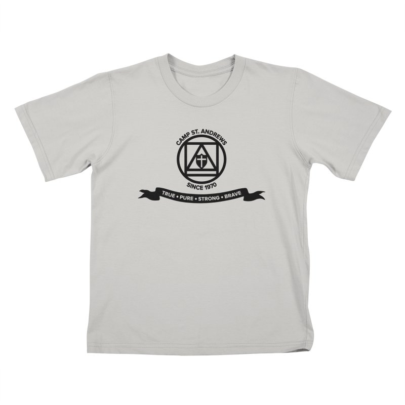 CSA Emblem (black) Kids T-Shirt by Camp St. Andrews