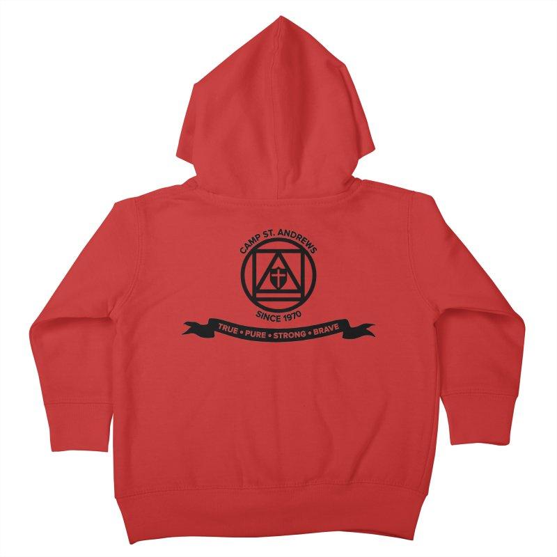 CSA Emblem (black) Kids Toddler Zip-Up Hoody by Camp St. Andrews