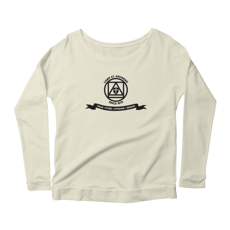CSA Emblem (black) Women's Longsleeve Scoopneck  by Camp St. Andrews