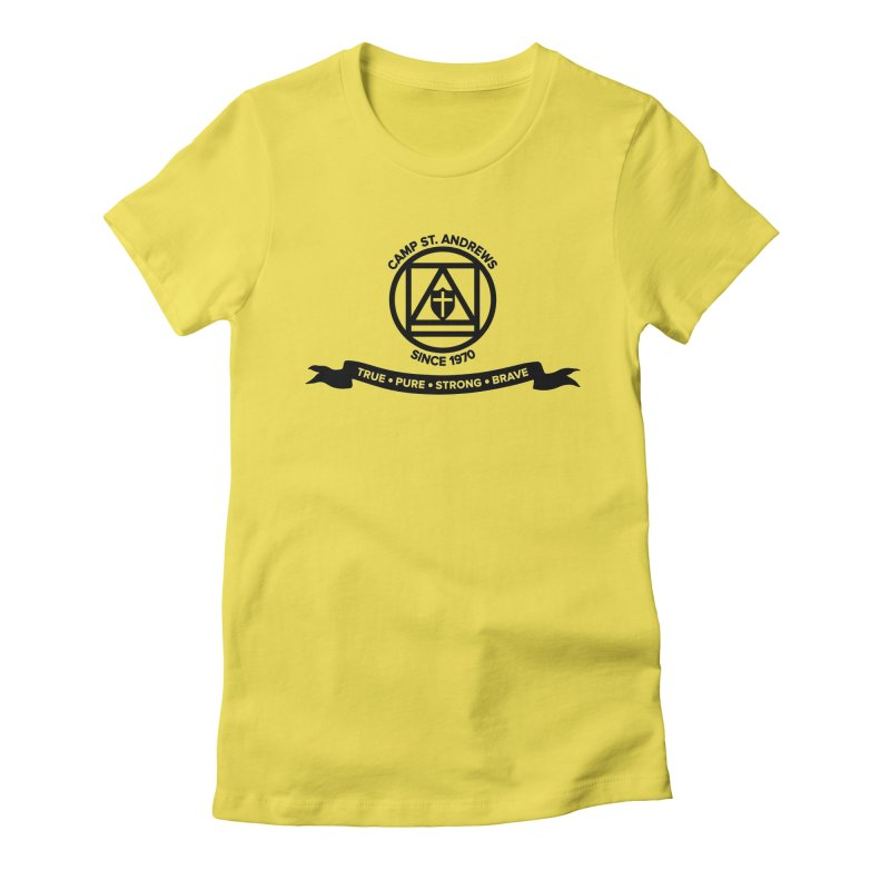 CSA Emblem (black) Women's Fitted T-Shirt by Camp St. Andrews