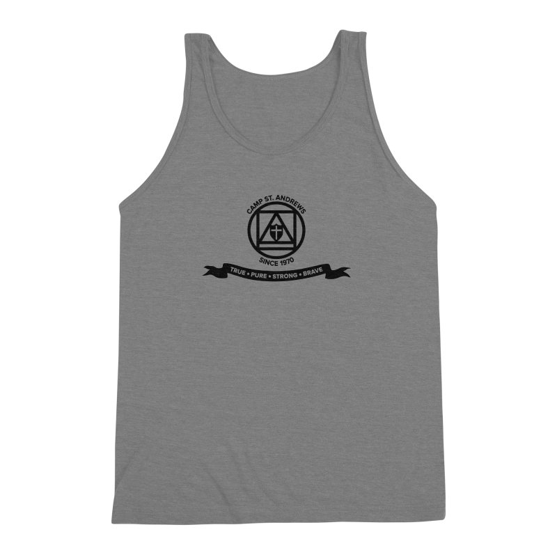 CSA Emblem (black) Men's Triblend Tank by Camp St. Andrews