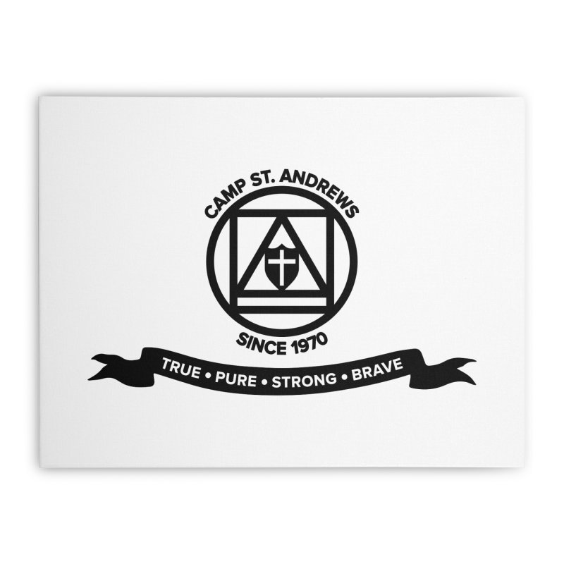 CSA Emblem (black) Home Stretched Canvas by Camp St. Andrews