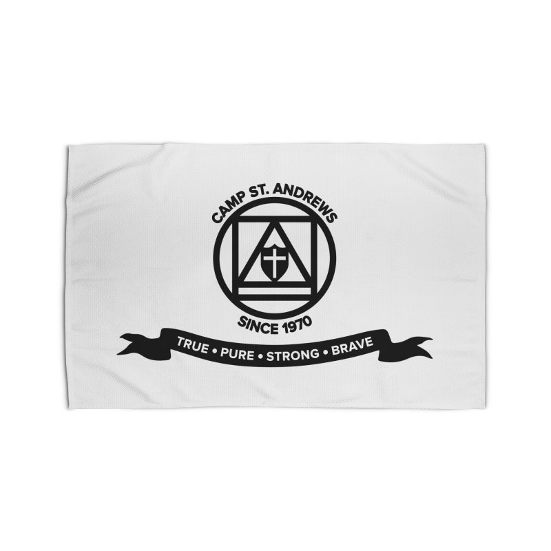 CSA Emblem (black) Home Rug by Camp St. Andrews