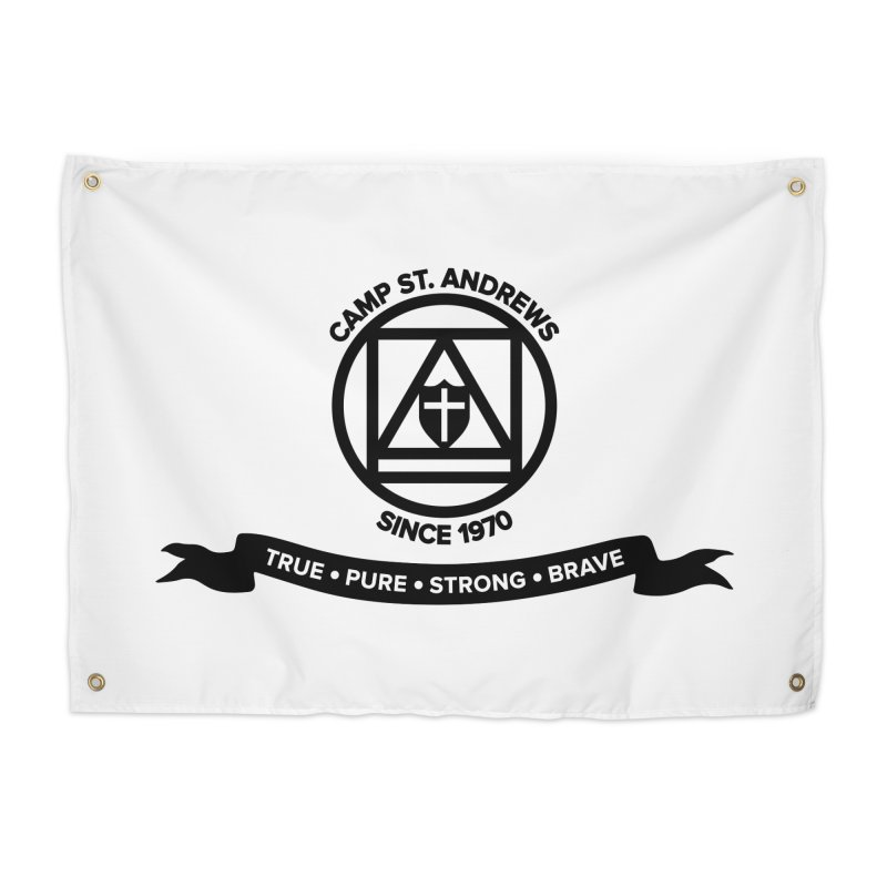 CSA Emblem (black) Home Tapestry by Camp St. Andrews