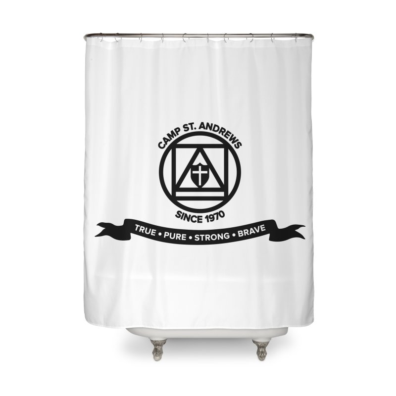 CSA Emblem (black) Home Shower Curtain by Camp St. Andrews