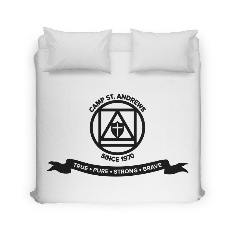 CSA Emblem (black) Home Duvet by Camp St. Andrews