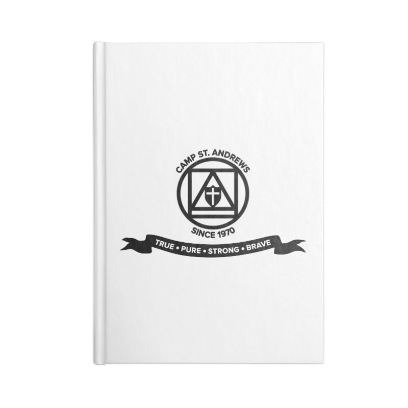 CSA Emblem (black) Accessories Notebook by Camp St. Andrews
