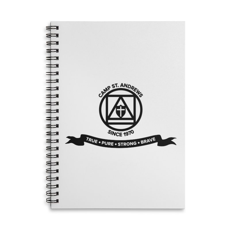 CSA Emblem (black) Accessories Lined Spiral Notebook by Camp St. Andrews