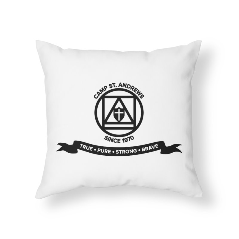 CSA Emblem (black) Home Throw Pillow by Camp St. Andrews