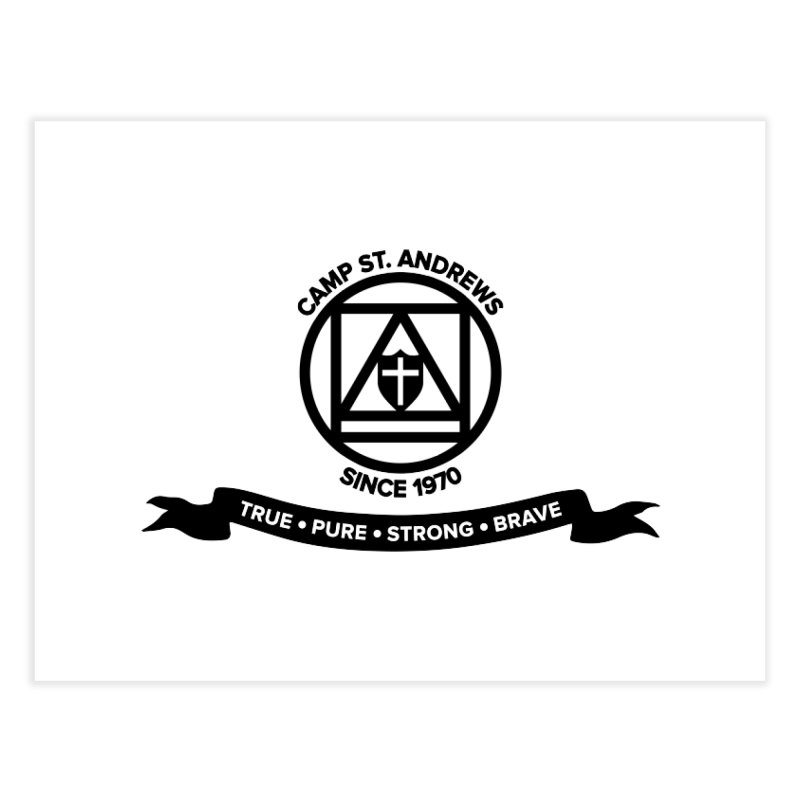 CSA Emblem (black) Home Fine Art Print by Camp St. Andrews