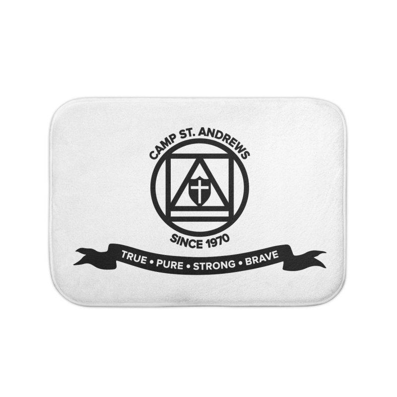 CSA Emblem (black) Home Bath Mat by Camp St. Andrews