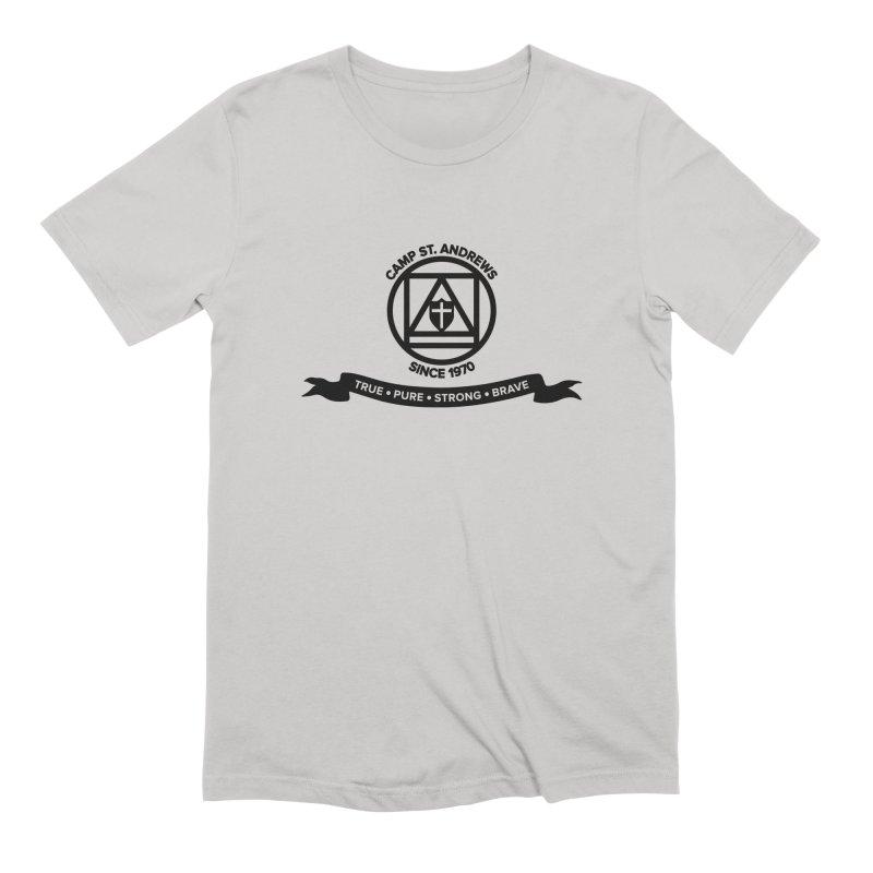 CSA Emblem (black) Men's Extra Soft T-Shirt by Camp St. Andrews