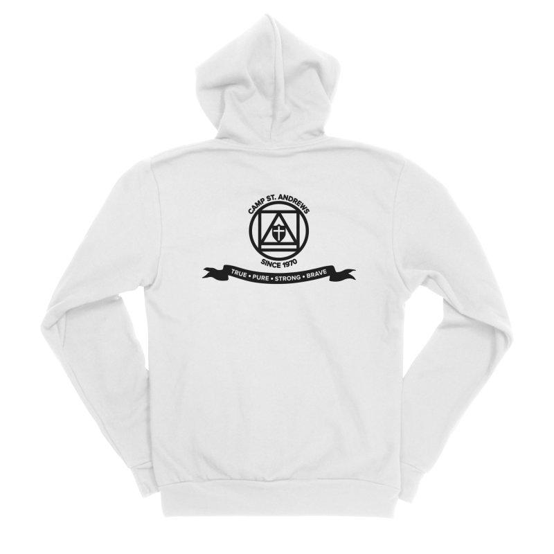 CSA Emblem (black) Men's Sponge Fleece Zip-Up Hoody by Camp St. Andrews