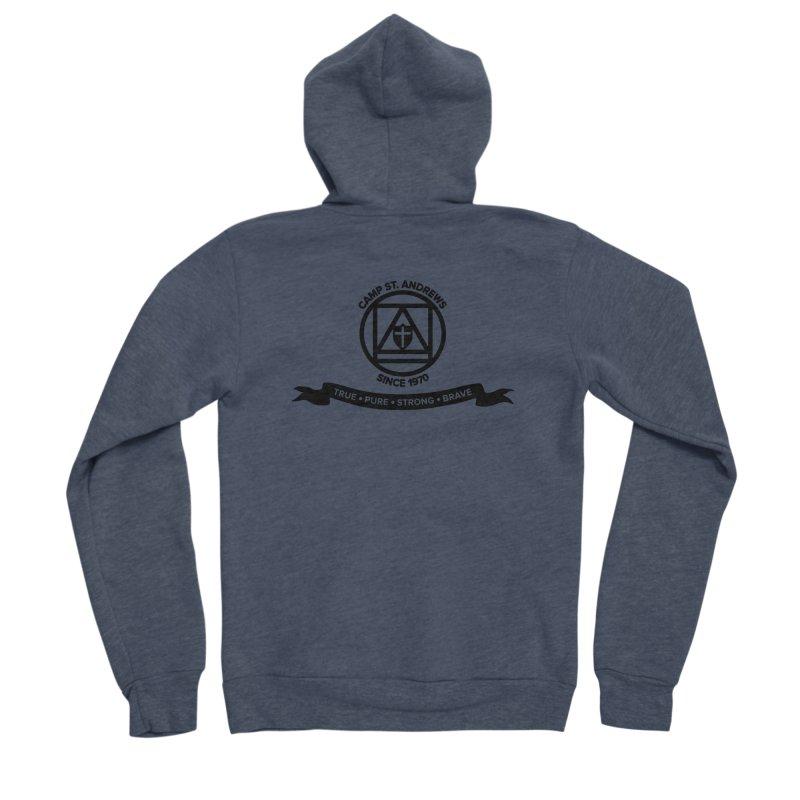 CSA Emblem (black) Women's Sponge Fleece Zip-Up Hoody by Camp St. Andrews