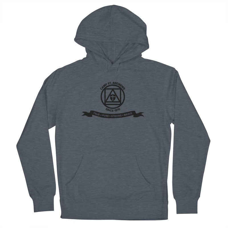 CSA Emblem (black) Women's French Terry Pullover Hoody by Camp St. Andrews