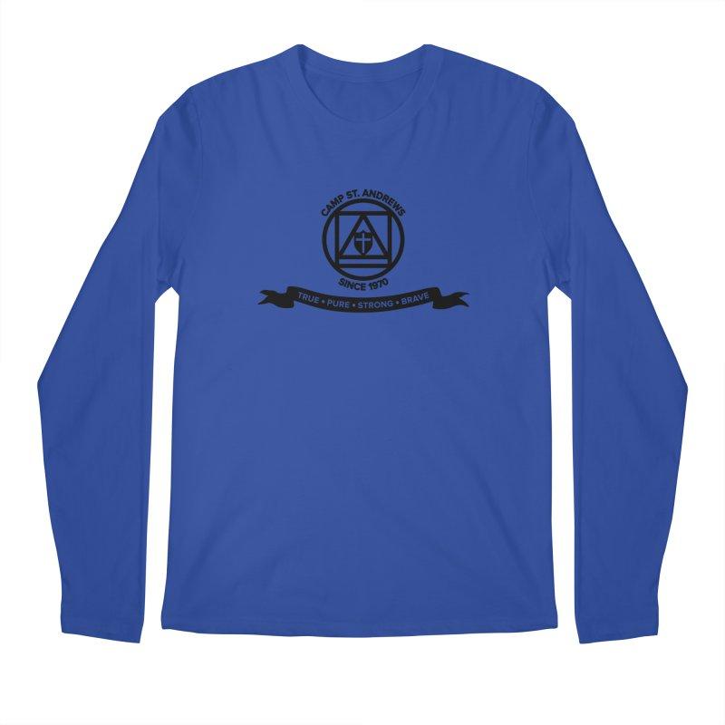 CSA Emblem (black) Men's Regular Longsleeve T-Shirt by Camp St. Andrews
