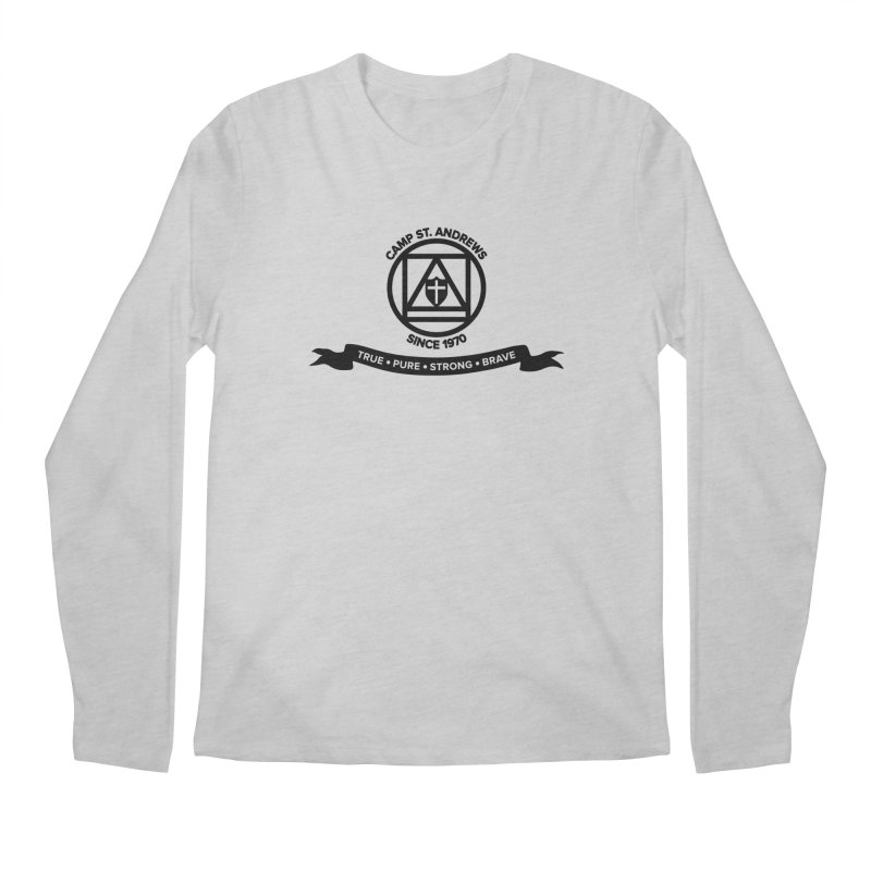 CSA Emblem (black) Men's Regular Longsleeve T-Shirt by Camp St. Andrews