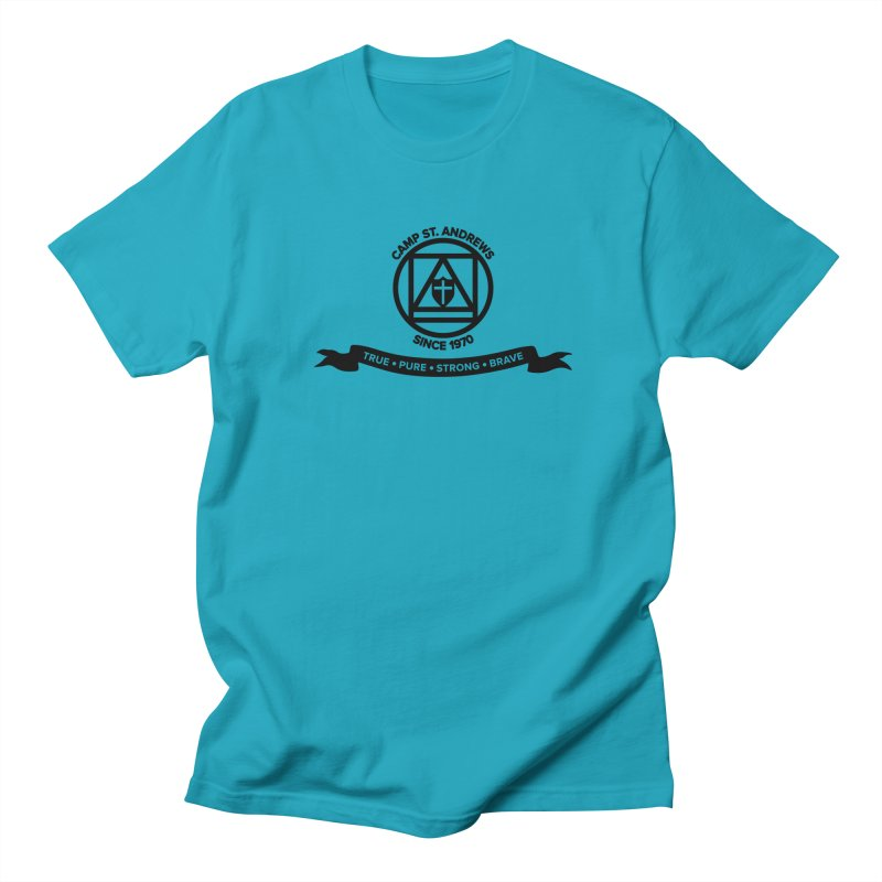 CSA Emblem (black) Women's Regular Unisex T-Shirt by Camp St. Andrews