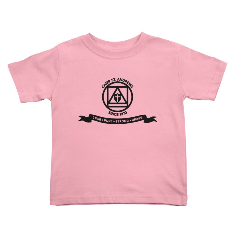 CSA Emblem (black) Kids Toddler T-Shirt by Camp St. Andrews