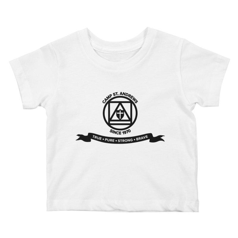 CSA Emblem (black) Kids Baby T-Shirt by Camp St. Andrews