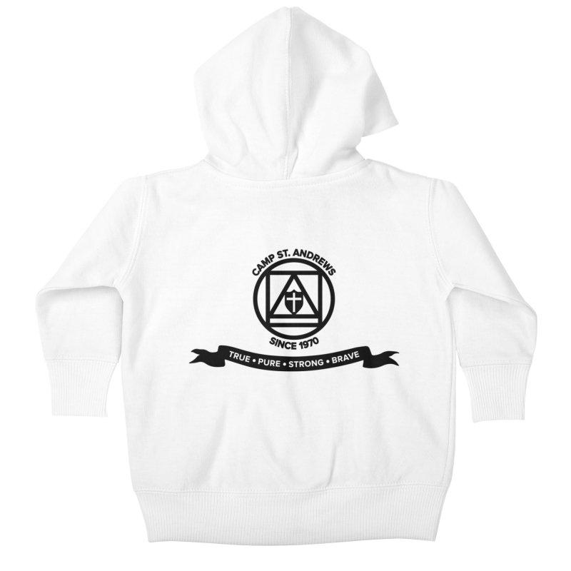 CSA Emblem (black) Kids Baby Zip-Up Hoody by Camp St. Andrews