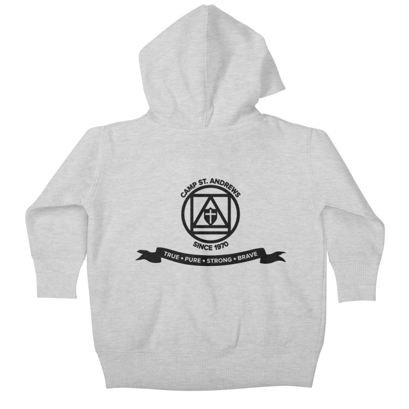 CSA Emblem (black) Kids Baby Zip-Up Hoody by Camp St. Andrews
