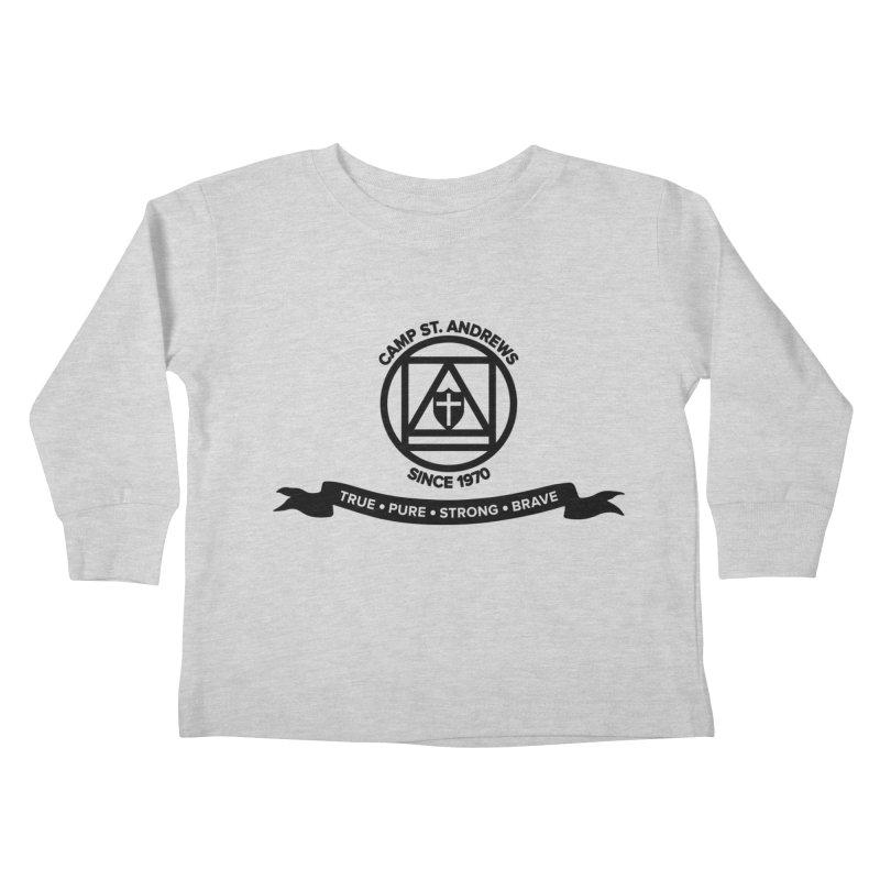 CSA Emblem (black) Kids Toddler Longsleeve T-Shirt by Camp St. Andrews