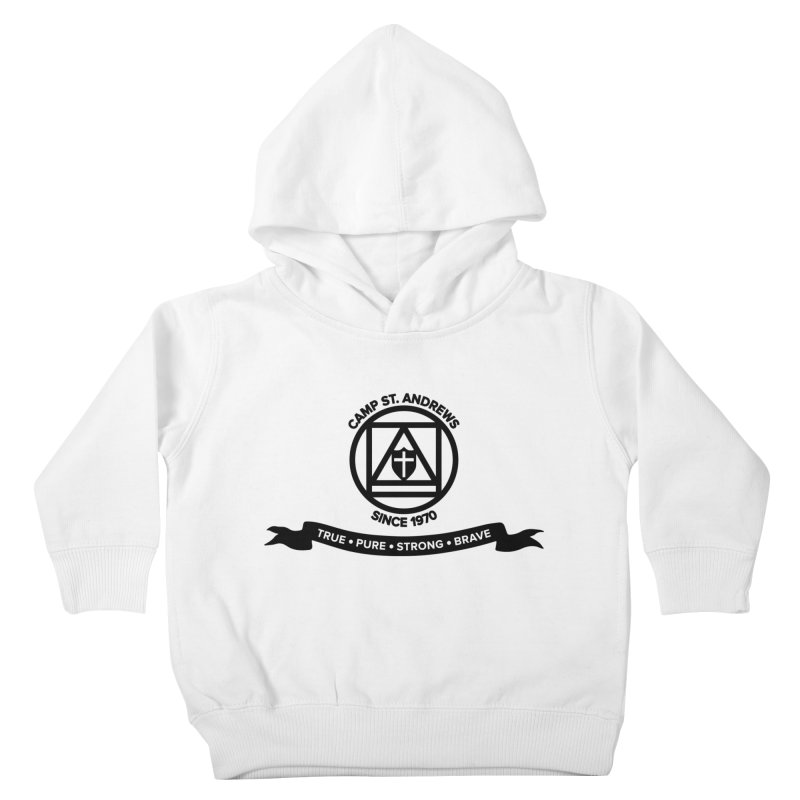 CSA Emblem (black) Kids Toddler Pullover Hoody by Camp St. Andrews