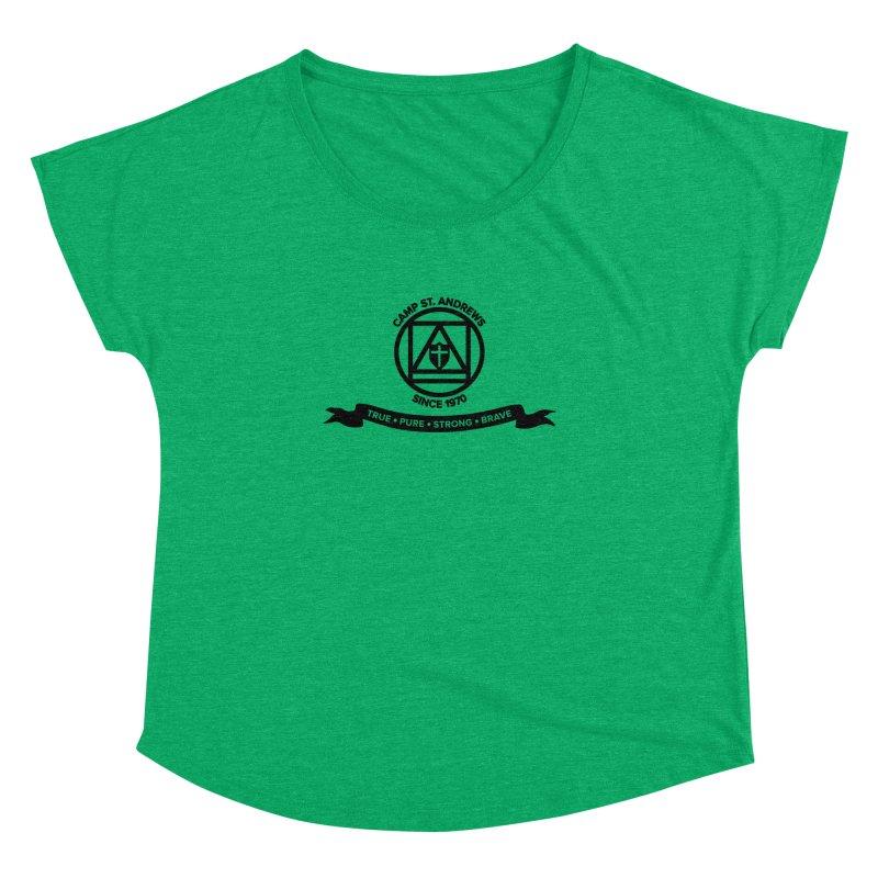 CSA Emblem (black) Women's Dolman Scoop Neck by Camp St. Andrews